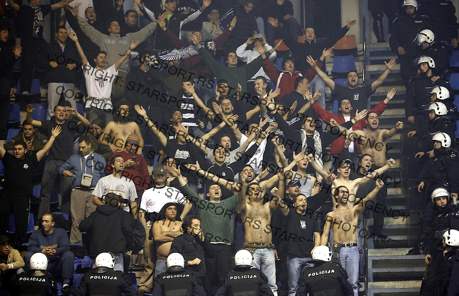 Kosarka, ULEB CUP, season&amp;#xD;Crvena Zvezda Vs. PAOK Thessalloniki&amp;#xD;Grobari&amp;#xD;Beogead, 06.12.2006.&amp;#xD;foto: SRDJAN STEVANOVIC<br />