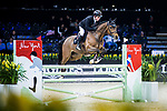 Gerco Schroder of The Netherlands riding Glock's Lausejunge competes in the Maserati Masters Power during the Longines Masters of Hong Kong at AsiaWorld-Expo on 10 February 2018, in Hong Kong, Hong Kong. Photo by Yuk Man Wong / Power Sport Images