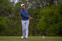 Si Woo Kim (KOR) watches his tee shot on 15 during Round 2 of the Valero Texas Open, AT&amp;T Oaks Course, TPC San Antonio, San Antonio, Texas, USA. 4/20/2018.<br /> Picture: Golffile | Ken Murray<br /> <br /> <br /> All photo usage must carry mandatory copyright credit (&copy; Golffile | Ken Murray)