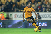 3rd November 2017, Molineux, Wolverhampton, England; EFL Championship football, Wolverhampton Wanderers versus Fulham; Willy Boly of Wolverhampton Wanderers brings the ball forward