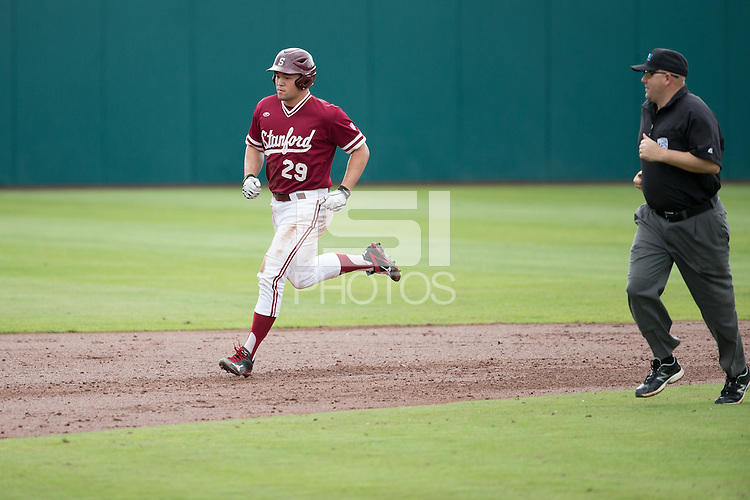 STANFORD, CA - March 20, 2016:  Stanford plays Kansas at Sunken Diamond. Stanford won 6-2.  Brandon Wulff hits his first career home run.