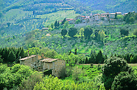 Village of Castagnola in Umbrian countryside near Giano Del Umbria, Umbria, Italy, AGPix_0099.