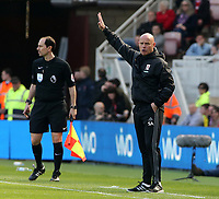 Middlesbrough Head Coach Steve Agnew shouts instructions to his team from the dug-out<br /> <br /> Photographer David Shipman/CameraSport<br /> <br /> The Premier League - Middlesbrough v Burnley - Saturday 8th April 2017 - Riverside Stadium - Middlesbrough<br /> <br /> World Copyright &copy; 2017 CameraSport. All rights reserved. 43 Linden Ave. Countesthorpe. Leicester. England. LE8 5PG - Tel: +44 (0) 116 277 4147 - admin@camerasport.com - www.camerasport.com