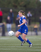 Hofstra University midfielder Tiffany Yovino (18) at midfield. Boston College defeated Hofstra University, 3-1, in second round NCAA tournament match at Newton Soccer Field, Newton, MA.