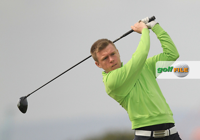 Matthew Kane (Whitehead) on the 3rd tee during Round 2 of the Flogas Irish Amateur Open Championship at Royal Dublin on Friday 6th May 2016.<br /> Picture:  Thos Caffrey / www.golffile.ie