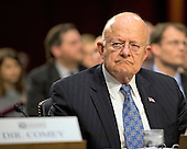Director James Clapper, Director of National Intelligence (DNI) testifies during an open hearing held by the US Senate Select Committee on Intelligence to examine worldwide threats on Capitol Hill in Washington, DC on Tuesday, February 9, 2016.<br /> Credit: Ron Sachs / CNP