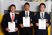Football Boys finalists Ashton Pett, Ryan De Vries and Thomas Doyle. ASB College Sport Young Sportsperson of the Year Awards held at Eden Park, Auckland, on November 11th 2010.