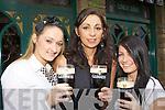 Elizabeth O'Sullivan, Helen Sheehan and Riona Hurley toasting Arthur's day in the Grand Hotel Killarney on Thursday