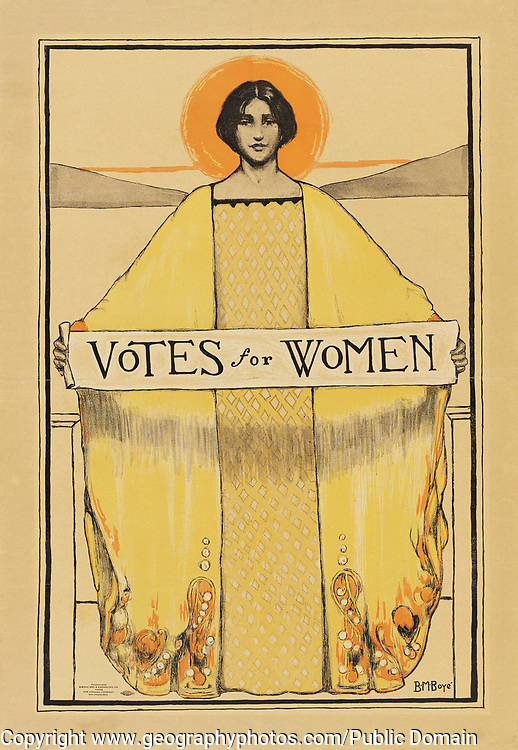 'Votes for Women' poster dated 1911 by B. M Boyce