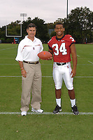 7 August 2006: Stanford Cardinal head coach Walt Harris and Ray Jones during Stanford Football's Team Photo Day at Stanford Football's Practice Field in Stanford, CA.