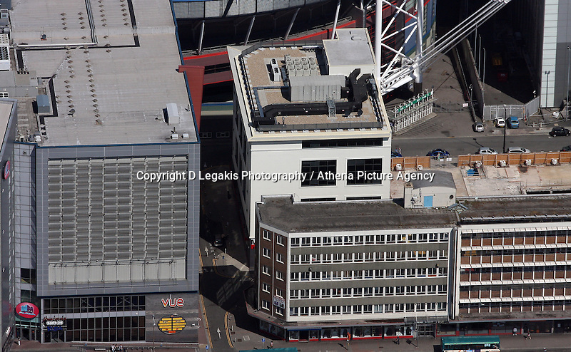 Aerial view of the new Media Wales building in Cardiff south Wales