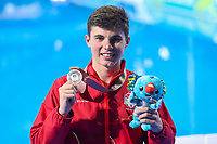Picture by Alex Whitehead/SWpix.com - 14/04/2018 - Commonwealth Games - Diving - Optus Aquatics Centre, Gold Coast, Australia - Matthew Dixon wins Silver in the Men's 10m Platform Final.