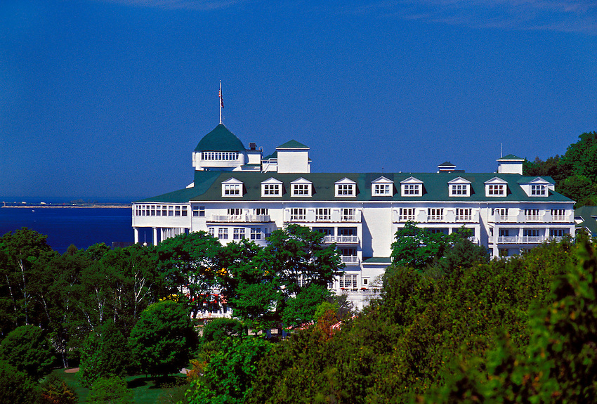 THE GRAND HOTEL ON MACKINAC ISLAND, MICHIGAN.