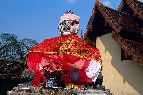 Statue, Wat Phra That Lampang Luang Temple, Lampang, Lampang Province, Northern Thailand