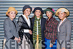 Lauren Nolan, Hannah Tansley, Lauryn Griffin (Eliza Doolittle), Grainne Raggett and Ailise Ryan of Mercy Mounthawk getting ready back stage on the set of My Fair Lady on Siamsa Tire on Thursday night last.