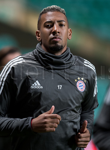 30th October 2017; Glasgow, Scotland;  Jerome Boateng of FC Bayern Munich  during a final training session at Celtic Park in Glasgow, Scotland, 30 October 2017. Munich will meet Celtic Glasgow in a Champions League group phase match on the 31 October 2017.