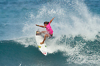 SUNSET BEACH, Oahu/Hawaii (Thursday, December 2, 2010) - Tyler Wright (AUS).   Brazilian Raoni Monteiro (BRA) became the first Brazilian in 20 years to take out the Men's division of the O'Neill World Cup of Surfing today. Julian Wilson (AUS) who won the Rookie of the Triple Crown and is leading the Triple Crown ratings finished in 2nd with Granger Larsen (HAW) in 3rd and  Josh Kerr (AUS) in 4th .Contest  Wildcard Tyler Wright (AUS), 16,  won the O'Neill Women's World Cup of Surfing, topping Sunset Beach local Coco Ho (HAW), 19, reigning four-time ASP Women's World Champion Stephanie Gilmore (AUS), 22, and ASP Women's World Tour No. 2 Sally Fitzgibbons (AUS), 19, in two-to-four foot (1 metre) surf at Sunset Beach. Wright was also named Women's Rookie of the Triple Crown..Photo: joliphotos.com