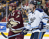 Senior captains Peter Harrold and Greg Moore - The Boston College Eagles defeated the University of Maine Black Bears 4-1 in the Hockey East Semi-Final at the TD Banknorth Garden on Friday, March 17, 2006.