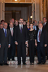 King Felipe VI of Spain and Queen Letizia of Spain attend the XXXI Francisco Cerecedo journalism awards ar Ritz hotel in Madrid, Spain. November 05, 2014. (ALTERPHOTOS/Victor Blanco)