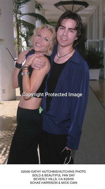 ©2000 KATHY HUTCHINS/HUTCHINS PHOTO.BOLD & BEAUTIFUL FAN DAY.BEVERLY HILLS, CA 8/26/00.SCHAE HARRISON & MICK CAIN