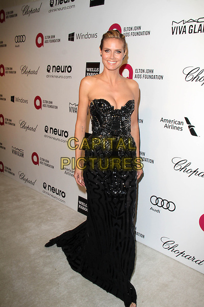 WEST HOLLYWOOD, CA - March 02: Heidi Klum at the 22nd Annual Elton John AIDS Foundation Oscar Viewing Party Arrivals, Private Location, West Hollywood,  March 02, 2014. <br /> CAP/MPI/JO<br /> &copy;JO/MPI/Capital Pictures