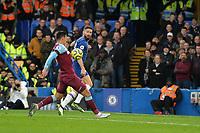 Pablo Zabaleta of West Ham United chest the ball for a corner during Chelsea vs West Ham United, Premier League Football at Stamford Bridge on 30th November 2019