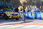 Jos Van Emden (NED) Team Jumbo-Visma in action during Stage 1 of the 2019 Giro d'Italia, an individual time trial running 8km from Bologna to the Sanctuary of San Luca, Bologna, Italy. 11th May 2019.<br /> Picture: Eoin Clarke | Cyclefile<br /> <br /> All photos usage must carry mandatory copyright credit (© Cyclefile | Eoin Clarke)