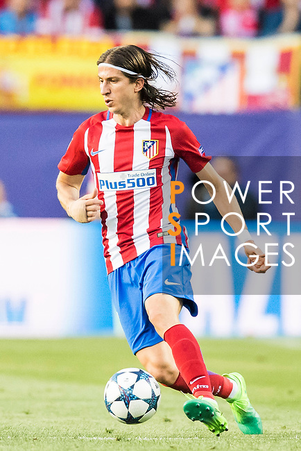 Filipe Luis of Atletico de Madrid in action during their 2016-17 UEFA Champions League Semifinals 2nd leg match between Atletico de Madrid and Real Madrid at the Estadio Vicente Calderon on 10 May 2017 in Madrid, Spain. Photo by Diego Gonzalez Souto / Power Sport Images