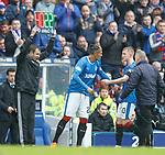 07.04.2018 Rangers v Dundee:<br /> Bruno Alves on for Ross McCrorie