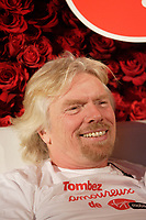 Montreal (QC) CANADA, 15 fevrier 2008<br /> <br /> Richard Branson (L) and Virginie Coosa (R), Quebec spokeperson for Virgin Mobile, stage a bed-in in Montreal's W Hotel , on valentine day for the promotion :<br /> Tombez Amoureux de Virgin Mobile / Fall in Love with Virgin Mobile.<br /> <br /> <br /> <br /> <br /> photo : (c) ¨Pierre Roussel -  images Distribution