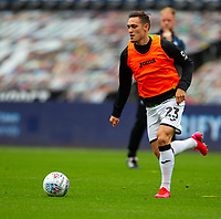 18th July 2020; Liberty Stadium, Swansea, Glamorgan, Wales; English Football League Championship, Swansea City versus Bristol City; Connor Roberts of Swansea City warms up before the match