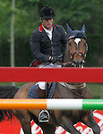 Britain's jockey Robert Whitaker with the horse USA Today during 102 International Show Jumping Horse Riding, Gran Prix of Madrid-Volvo Throphy.May, 19, 2012. (ALTERPHOTOS/Acero)