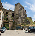 The remains of the Castello Medioevale,  Picinisco, Italy.