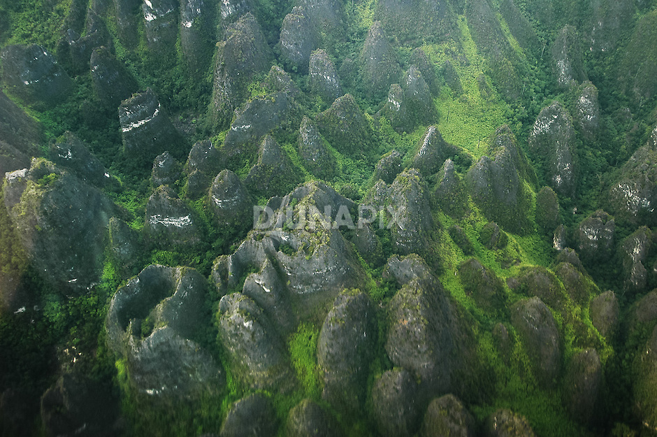 A spectacular field of cockpit karst between  Baai and Marang in the Sangkulirang region of East Kalimantan. A large doline at the top of cone at lower left is particularly impressive.