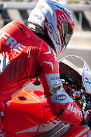 Nico Terol in pit line at pre season winter test IRTA Moto3 & Moto2 at Ricardo Tormo circuit in Valencia (Spain), 11-12-13 February 2014