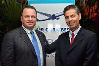 La aerolinea Caraibes anuncio la apertura de su primer vuelo previsto para el 25 de marzo del 2012.Gustavo de Hostos y Francois Bonnet.Foto:Saturnino Vasquez/acento.com.do.Fecha:02/02/2012