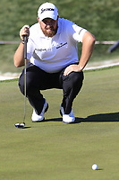 Shane Lowry (IRL) lines up his putt on the 5th green during Saturday's Round 3 of the Waste Management Phoenix Open 2018 held on the TPC Scottsdale Stadium Course, Scottsdale, Arizona, USA. 3rd February 2018.<br /> Picture: Eoin Clarke | Golffile<br /> <br /> <br /> All photos usage must carry mandatory copyright credit (&copy; Golffile | Eoin Clarke)