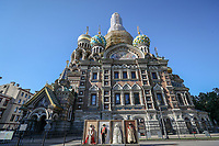 SAO PETERSBURGO, RUSSIA, 12.07.2018 - SAO PETERSBURGO-RUSSIA - Vista da Catedral do Sangue Derramado ou Igreja da Ressurreição do Salvador, uma igreja ortodoxa russa de São Petersburgo, situada na margem do canal Griboedov e aquiteta por Alfred Alexandrowitsch Parland . (Foto: William Volcov/Brazil Photo Press)