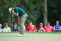 Adam Scott misses his birdie putt on the 6th during the opening round of the US PGA Championship at Valhalla (Photo: Anthony Powter) Picture: Anthony Powter / www.golffile.ie