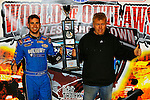 Nov 06, 2009; 12:46:42 AM; Concord, NC, USA; The Topless Showdown presented by Hungry-Man features the cars and stars of the World of Outlaws Late Model Series competing at The Dirt Track @ Lowe's Motor Speedway.  Mandatory Credit: (thesportswire.net)