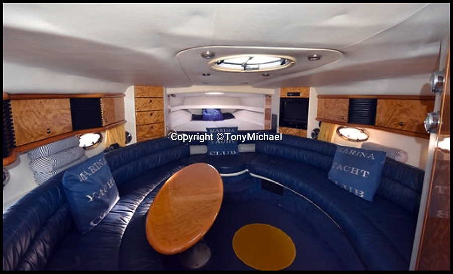 BNPS.co.uk (01202 558833)<br /> Pic :  TonyMichael/BNPS<br /> <br /> A James Bond fan has bought the late Sir Roger Moore's former luxury speedboat for £90,000.<br /> <br /> Car sales business owner Tony Michael could not believe his luck when he found out the beloved 007 actor's stylish Sunseeker Tomahawk 41 was on the market.<br /> <br /> Moore, who played Bond in seven films, owned the 41ft boat from new in 1995 until 2007 and ran it along the French Riviera.<br /> <br /> He was often photographed on it in the millionaires' playground of Monaco where he had an apartment.
