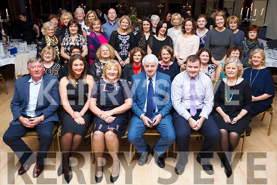 Monica Sheehy (seated front, 3rd from left) enjoying her retirement party at the Ballygarry House Hotel with her family and friends.
