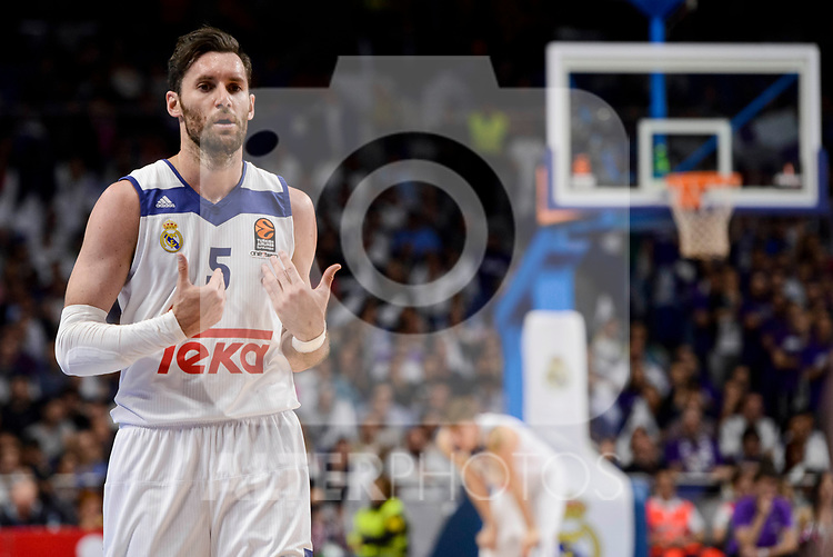 Real Madrid's Rudy Fernandez during quarter final of Turkish Airlines Euroleague match between Real Madrid and Darussafaka Dogus at Wizink Center in Madrid, April 20, 2017. Spain.<br /> (ALTERPHOTOS/BorjaB.Hojas)