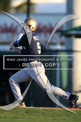 February 26, 2010:  David Mills of the Notre Dame Fighting Irish during the Big East/Big 10 Challenge at Jack Russell Stadium in Clearwater, FL.  Photo By Mike Janes/Four Seam Images