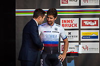 Picture by Alex Whitehead/SWpix.com - 30/09/2018 - Cycling - UCI 2018 Road World Championships - Innsbruck-Tirol, Austria - Elite Men's Road Race - Peter Sagan and David Lappartient.