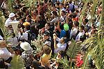 Israel, Jerusalem, Palm Sunday procession on the Mount of Olives