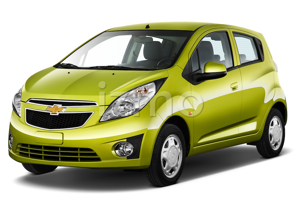 Front three quarter view of a 2011 Chevrolet Spark LS 5 Door Hatchback .