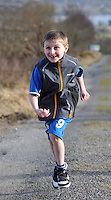 HEALTH: Sean O'Sullivan (8)  'running up the hill' outside Kenmare in preparation for the Jack & Jill Foundation 10k run  on April27th..Picture by Don MacMonagle.Story by Deirdre Veldon
