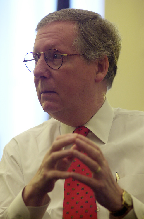 mm5/010303 - Sen. Mitch McConnell, R-Ky., Majority Whip
