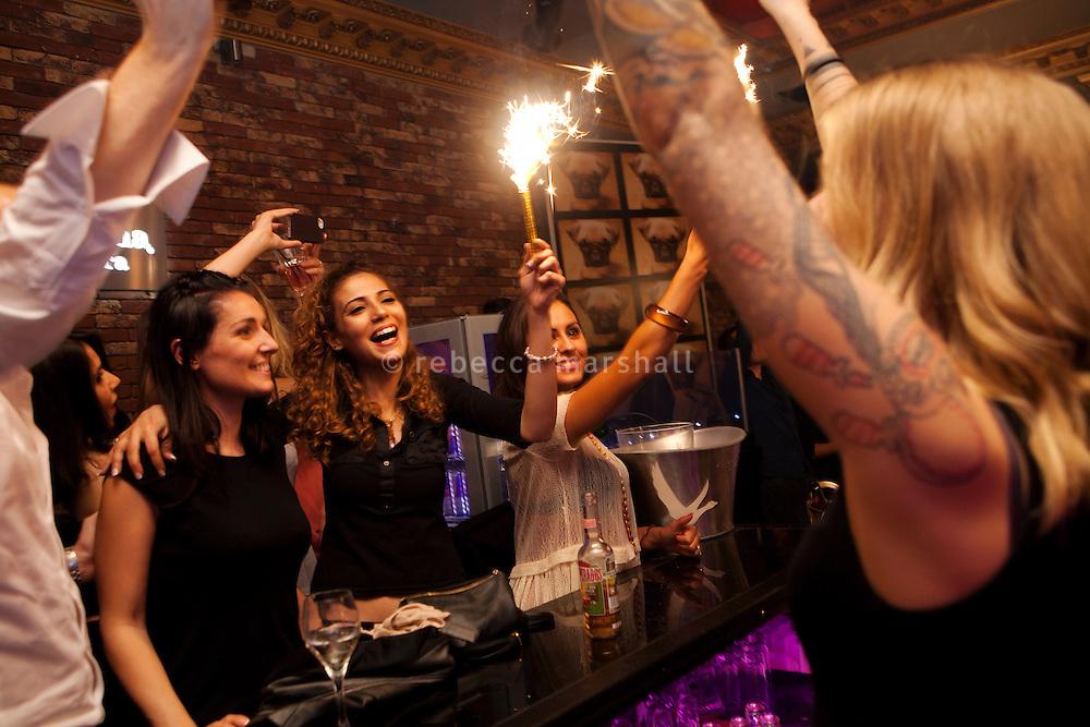 Saturday night at B.Pub, Cannes, France, 6 April 2013